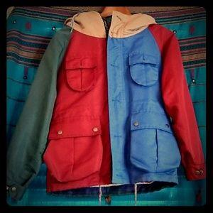 Vintage 2-in-1 jacket and fleece vest